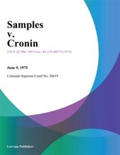 Samples V. Cronin