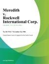 Meredith V Rockwell International Corp