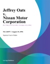 Jeffrey Oats V Nissan Motor Corporation
