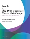 People V One 1948 Chevrolet Convertible Coupe