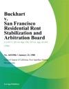 Buckhart V San Francisco Residential Rent Stabilization And Arbitration Board