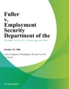 Fuller V Employment Security Department Of The
