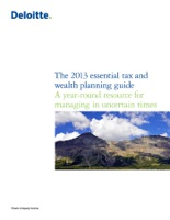 The 2013 Essential Tax and Wealth Planning Guide