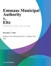 Emmaus Municipal Authority V Eltz