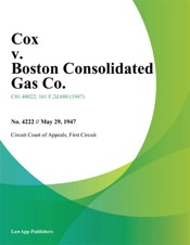Download and Read Online Cox v. Boston Consolidated Gas Co.