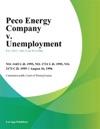 081696 Peco Energy Company V Unemployment