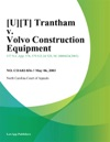 Trantham V Volvo Construction Equipment