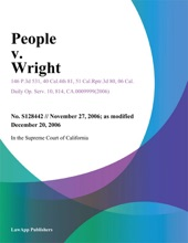 People V. Wright