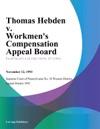 Thomas Hebden V Workmens Compensation Appeal Board Bethenergy Mines