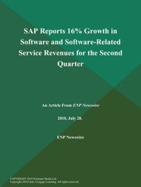 SAP REPORTS 16% GROWTH IN SOFTWARE AND SOFTWARE-RELATED SERVICE REVENUES FOR THE SECOND QUARTER