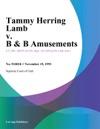 111993 Tammy Herring Lamb V B  B Amusements