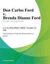 Don Carlos Ford V. Brenda Dianne Ford