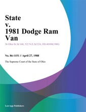 State v. 1981 Dodge Ram Van