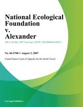 National Ecological Foundation V. Alexander