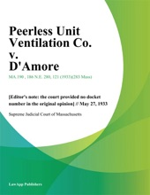 Peerless Unit Ventilation Co. V. D'Amore