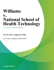 WILLIAMS V. NATIONAL SCHOOL OF HEALTH TECHNOLOGY