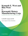 Kenneth E West And Rita West V Kawasaki Motors Manufacturing Corp