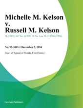 Michelle M. Kelson V. Russell M. Kelson