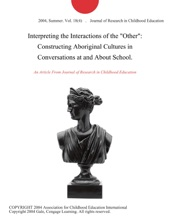 Interpreting The Interactions Of The