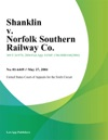 Shanklin V Norfolk Southern Railway Co