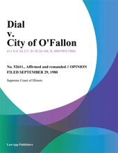 Dial V. City Of O'Fallon