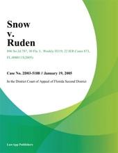 Snow V. Ruden