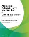 Municipal Administrative Services Inc V City Of Beaumont