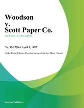 Woodson V. Scott Paper Co.