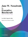 Jane W Nesselrode V Executive Beechcraft