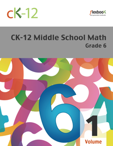 CK-12 Middle School Math - Grade 6, Volume 1 Of 2 Book Review