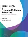 Lionel Corp V Grayson-Robinson Stores Inc