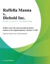 Raffella Manna V Diebold Inc