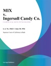 Mix V Ingersoll Candy Co