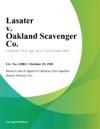 Lasater V Oakland Scavenger Co