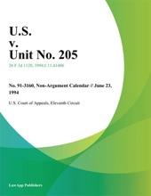 U.S. V. Unit No. 205