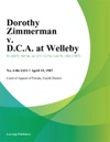 Dorothy Zimmerman V DCA At Welleby