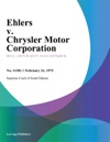 Ehlers V Chrysler Motor Corporation