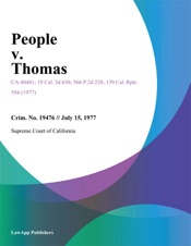 Download and Read Online People V. Thomas