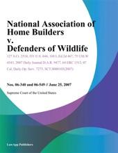 National Association of Home Builders v. Defenders of Wildlife