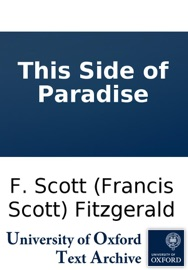 This Side of Paradise PDF Download