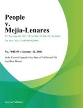 People V. Mejia-Lenares