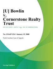 [U] Bowlin V. Cornerstone Realty Trust