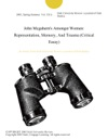 John Mcgaherns Amongst Women Representation Memory And Trauma Critical Essay