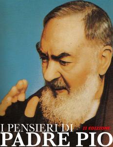 I Pensieri di Padre Pio Libro Cover