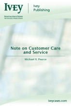 Note On Customer Care And Service