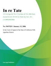 In Re Tate