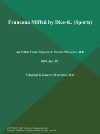Francona Miffed By Dice K Sports