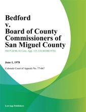 Bedford V. Board Of County Commissioners Of San Miguel County