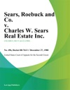 Sears Roebuck And Co V Charles W Sears Real Estate Inc