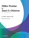 Miller Pontiac V Janet S Osborne